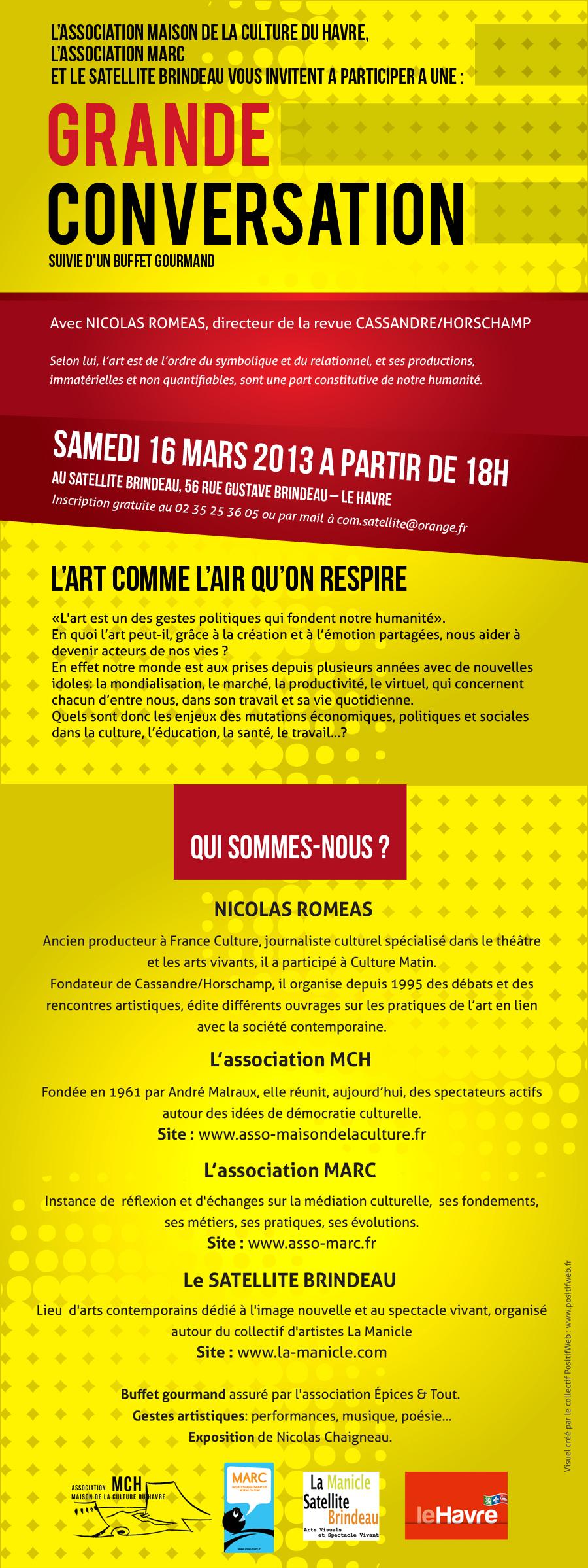 Conférence la samedi 16 mars 2013 au Havre